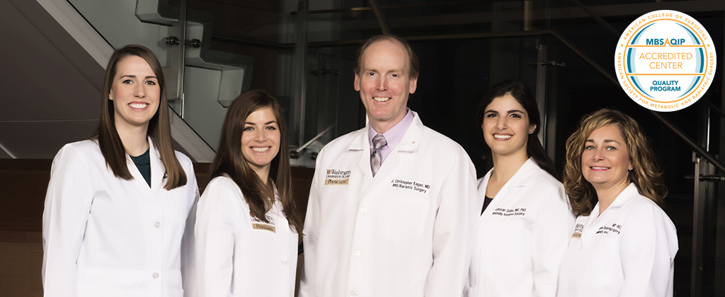 Washington University weight loss surgeons, nurse and nurse practitioner